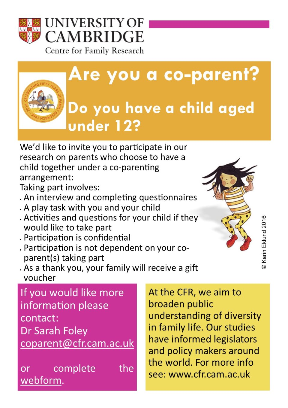 coparent poster for Cambridge university